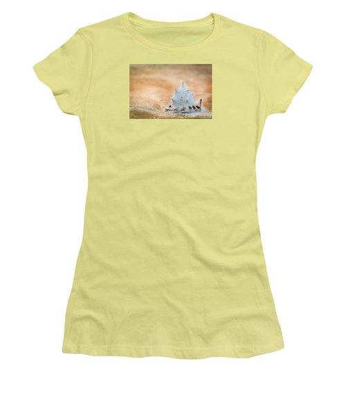 Women's T-Shirt (Athletic Fit) featuring the photograph Washed Up by Sebastian Musial