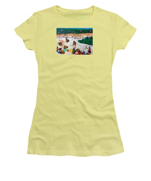 Washing Clothes By The Riverside In Haiti Women's T-Shirt (Athletic Fit)