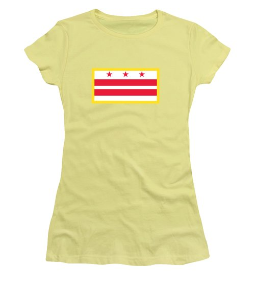 Washington, D.c. Flag Women's T-Shirt (Junior Cut) by Frederick Holiday