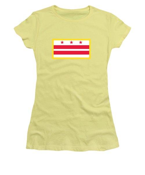 Washington, D.c. Flag Women's T-Shirt (Athletic Fit)