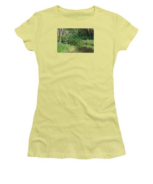 Washington Oaks Pond Women's T-Shirt (Junior Cut) by Kenneth Albin