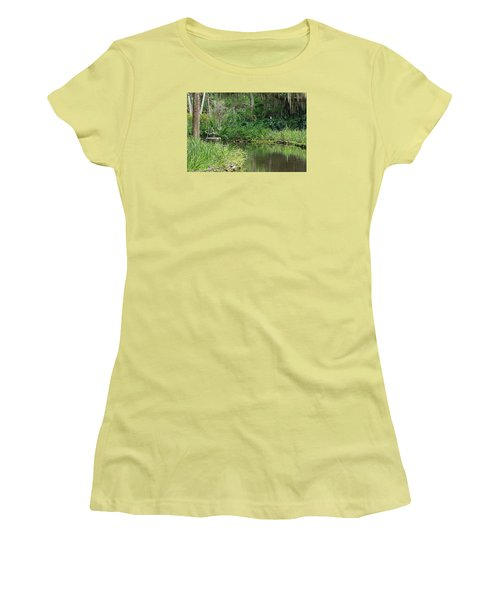 Washington Oaks Pond Women's T-Shirt (Athletic Fit)