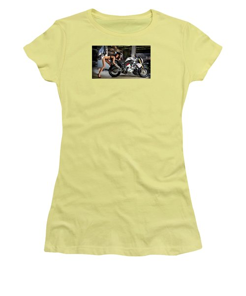 Women's T-Shirt (Junior Cut) featuring the photograph Watch Out For The Sparks by Lawrence Christopher