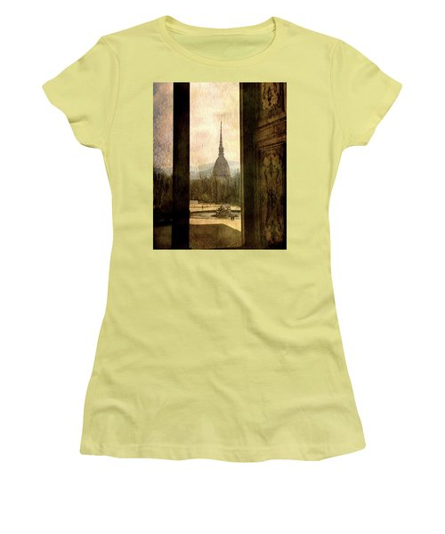 Watching Antonelliana Tower From The Window Women's T-Shirt (Athletic Fit)