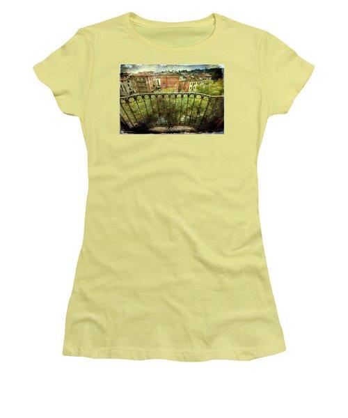 Watching From The Balcony Women's T-Shirt (Junior Cut) by Vittorio Chiampan