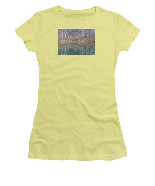 Women's T-Shirt (Junior Cut) featuring the photograph Water And Lace by Christian Mattison