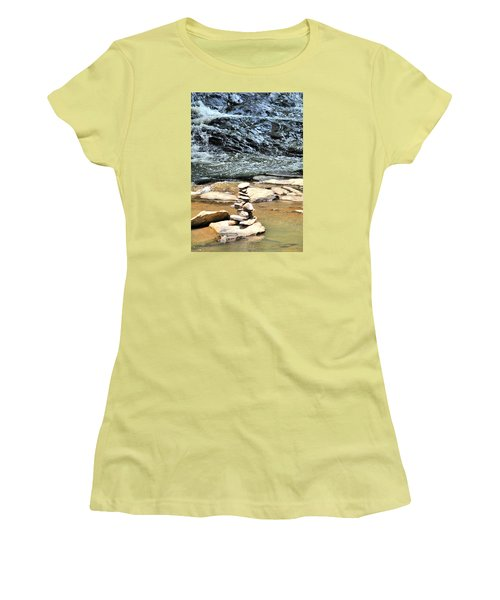 Water And Stone Women's T-Shirt (Athletic Fit)