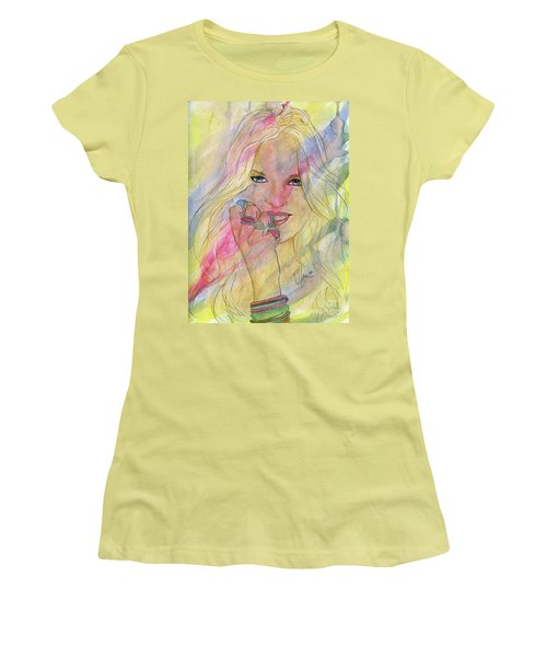 Water Colored Memories Women's T-Shirt (Junior Cut) by P J Lewis