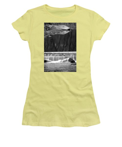 Water Fall And Reflexions Women's T-Shirt (Athletic Fit)