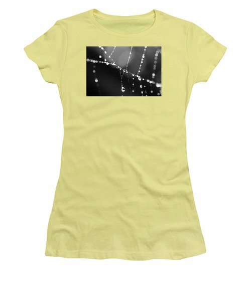 Women's T-Shirt (Junior Cut) featuring the photograph Water Web by Darcy Michaelchuk