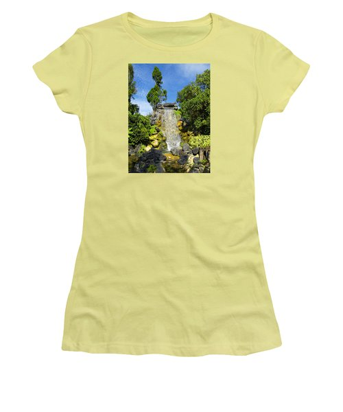 Women's T-Shirt (Junior Cut) featuring the photograph Water Works by Barbara Middleton