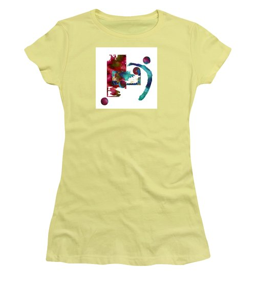 Women's T-Shirt (Junior Cut) featuring the painting Watercolor Abstract 2 by Kandy Hurley