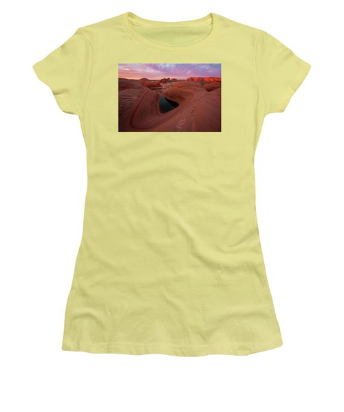 Women's T-Shirt (Junior Cut) featuring the photograph Watercolor Morning by Dustin LeFevre