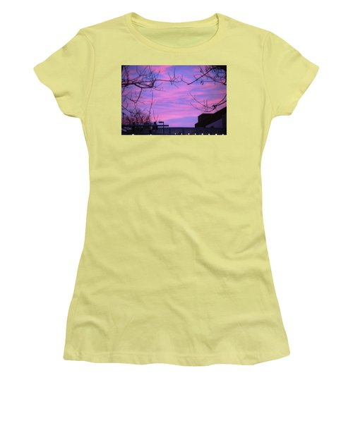 Watercolor Sky Women's T-Shirt (Junior Cut) by Sumoflam Photography