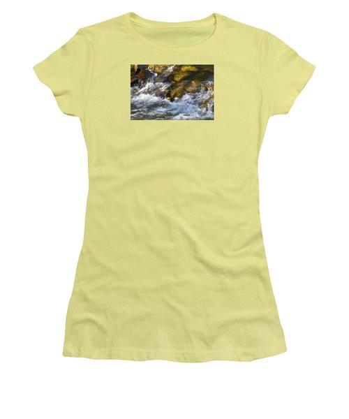 Women's T-Shirt (Junior Cut) featuring the photograph Watercourse by Jean Bernard Roussilhe