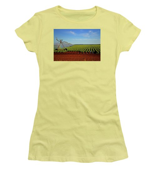 Women's T-Shirt (Junior Cut) featuring the photograph Watering The Garden 002 by George Bostian