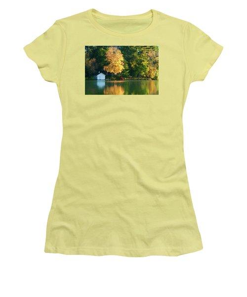Waupaca Chain Boathouse Women's T-Shirt (Junior Cut) by Trey Foerster