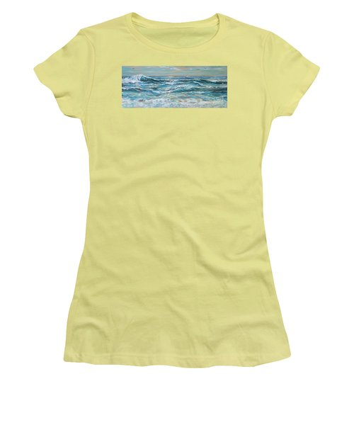 Waves And Wind Women's T-Shirt (Athletic Fit)