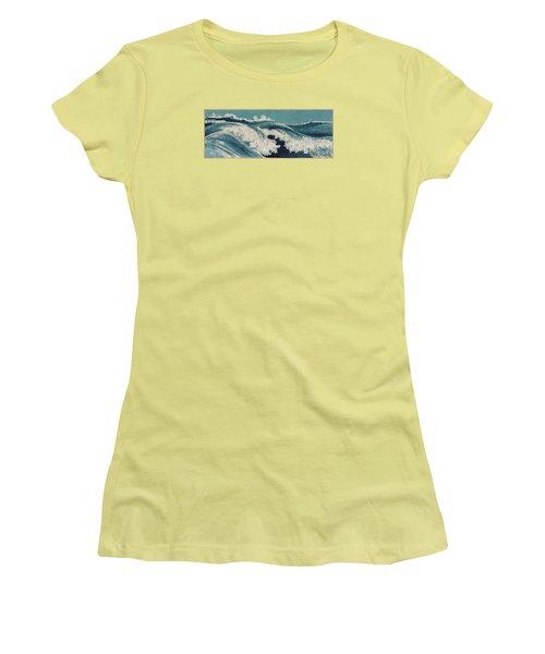 Waves Women's T-Shirt (Junior Cut) by Konen Uehara