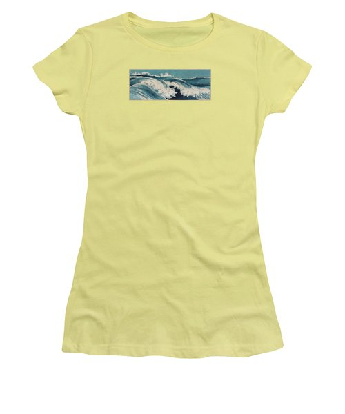 Waves Women's T-Shirt (Athletic Fit)