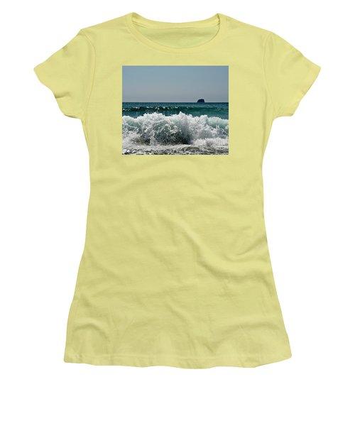 Waves Of Pacific Ocean. Coromandel,new Zealand Women's T-Shirt (Athletic Fit)