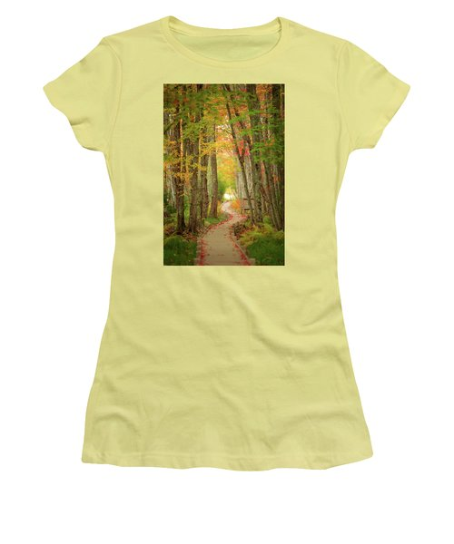 Women's T-Shirt (Junior Cut) featuring the photograph Way To Sieur De Monts  by Emmanuel Panagiotakis