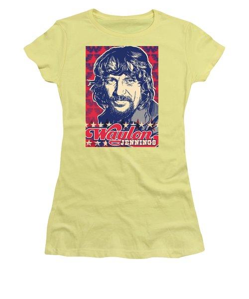 Waylon Jennings Pop Art Women's T-Shirt (Athletic Fit)