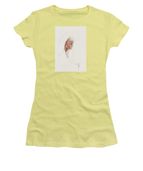 Wc Mini Portrait 3             Women's T-Shirt (Junior Cut) by Becky Kim