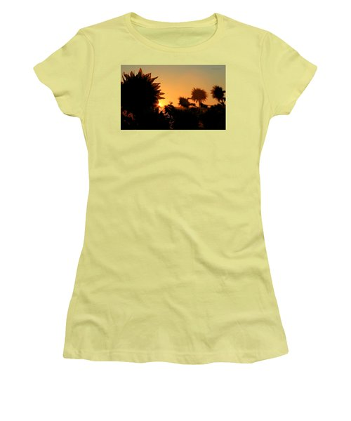 Women's T-Shirt (Junior Cut) featuring the photograph We Are Sunflowers by Chris Berry