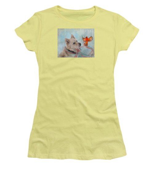 We Can All Get Along Women's T-Shirt (Junior Cut) by Colleen Taylor