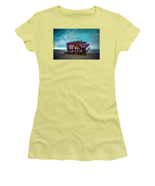 Weathered Rusting Shipwreck Women's T-Shirt (Athletic Fit)