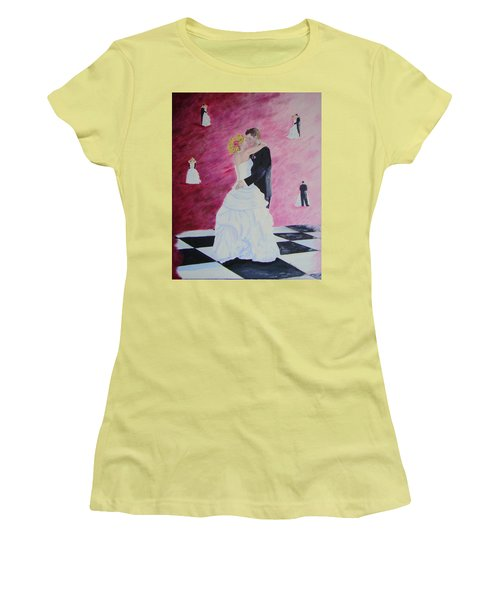 Wedding Dance Women's T-Shirt (Junior Cut) by Lisa Rose Musselwhite