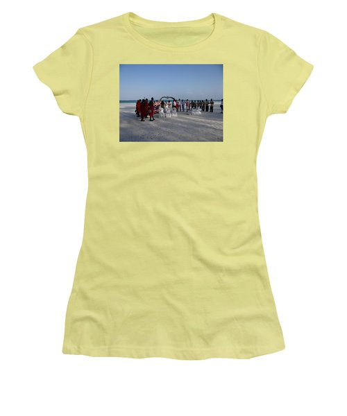 wedding with Maasai singers Women's T-Shirt (Athletic Fit)