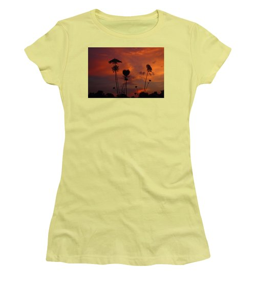 Weeds In The Sunrise Women's T-Shirt (Junior Cut) by Kathryn Meyer