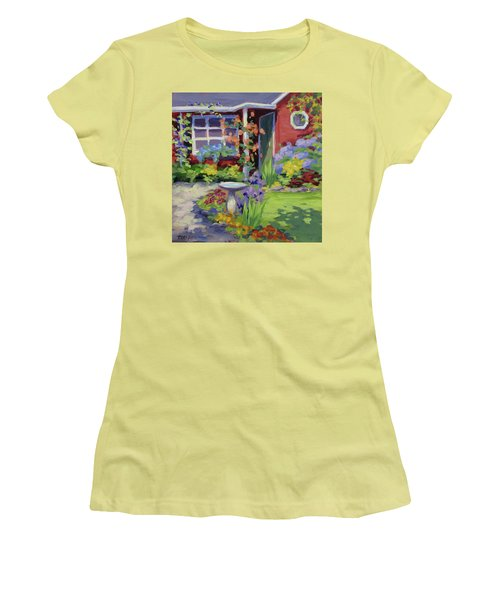 Welcome Home Women's T-Shirt (Junior Cut) by Karen Ilari