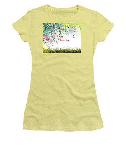 Welcome Spring 2016 Women's T-Shirt (Junior Cut) by Trilby Cole