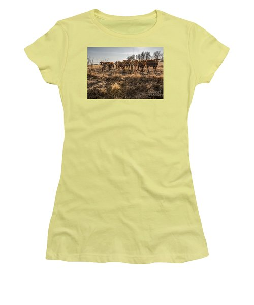 Women's T-Shirt (Junior Cut) featuring the photograph Welcoming Committee by Sue Smith