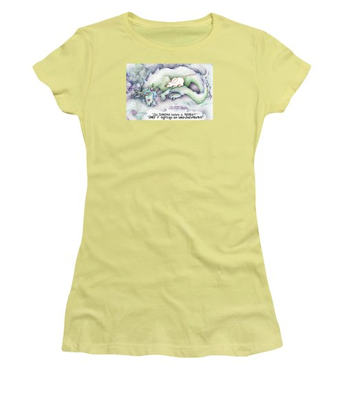 Women's T-Shirt (Junior Cut) featuring the painting Well Documented Fpi Editorial Cartoon by Dawn Sperry