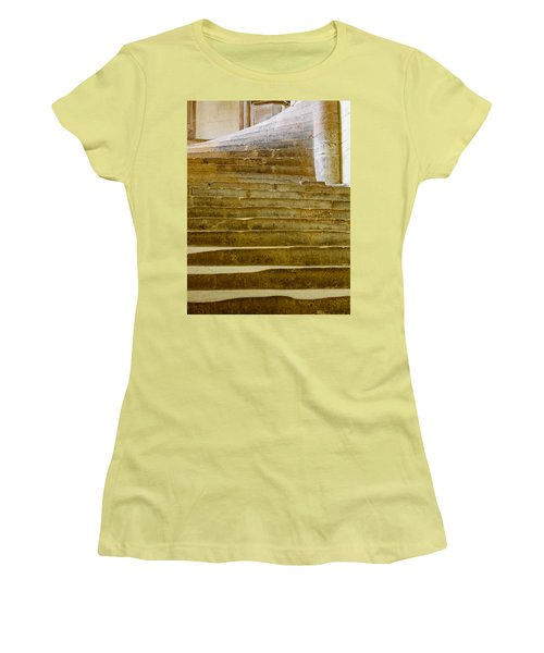 Women's T-Shirt (Junior Cut) featuring the photograph Wells Cathedral Steps by Colin Rayner