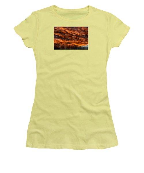 West Virginia Afterglow Women's T-Shirt (Junior Cut) by Thomas R Fletcher