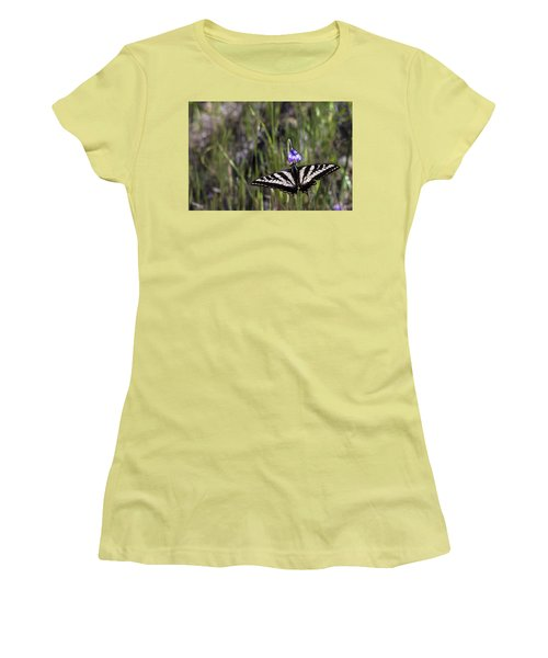 Western Tiger Swallowtail Women's T-Shirt (Athletic Fit)