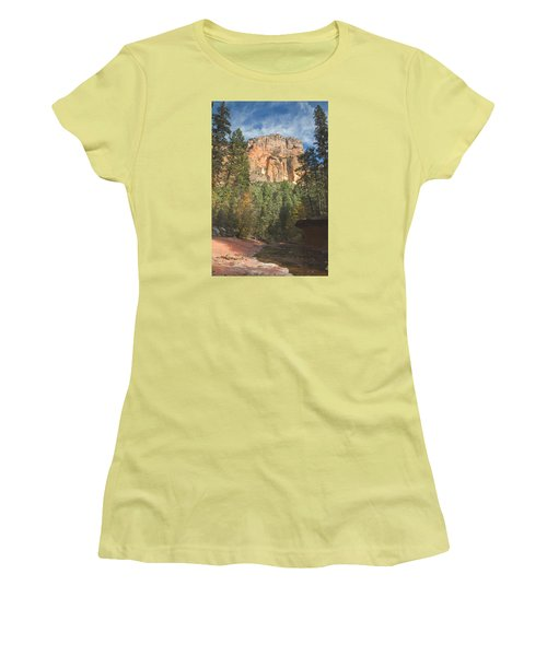 Women's T-Shirt (Junior Cut) featuring the photograph Westfork Trail by Tom Kelly