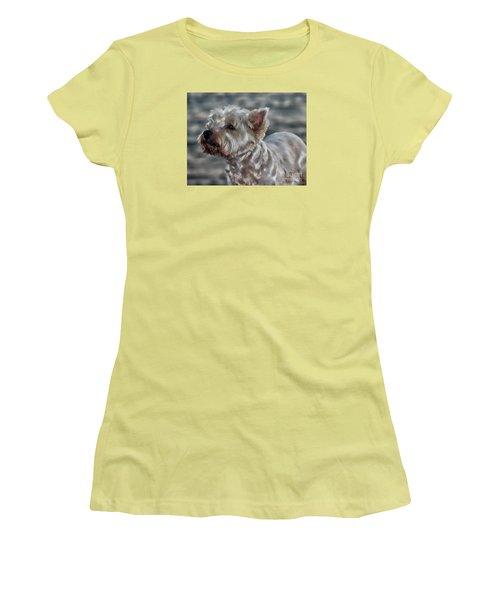 Westie Love Women's T-Shirt (Junior Cut) by Clare Bevan