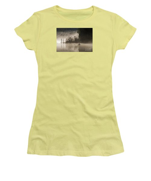 Women's T-Shirt (Junior Cut) featuring the photograph Westwood Lake by Inge Riis McDonald