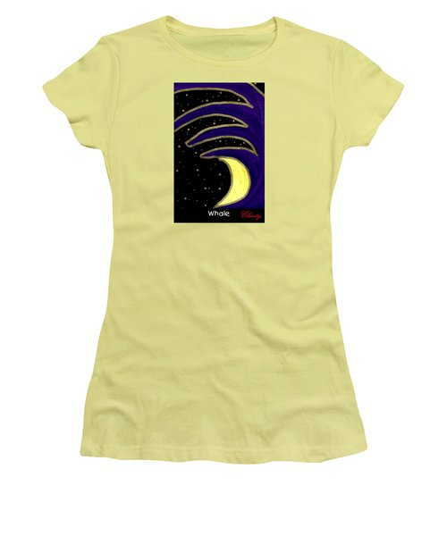 Women's T-Shirt (Athletic Fit) featuring the painting Whale by Clarity Artists