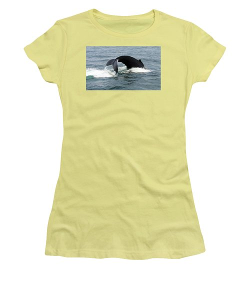 Whale Of A Tail Women's T-Shirt (Athletic Fit)