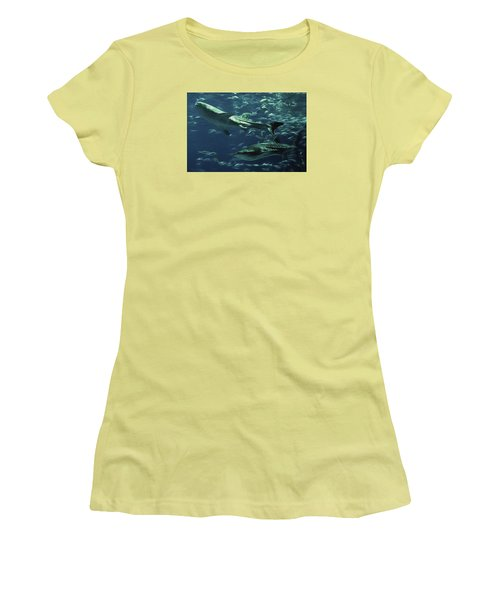 Whale Shark Couple Women's T-Shirt (Athletic Fit)