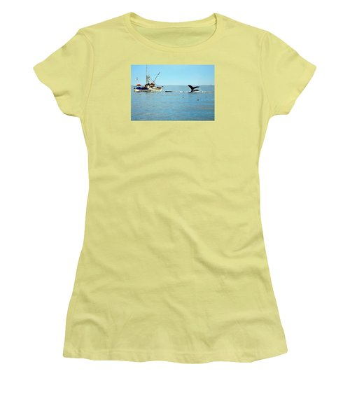 Whale Watching Moss Landing Series 26 Women's T-Shirt (Athletic Fit)