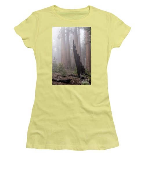 Women's T-Shirt (Athletic Fit) featuring the photograph What Lurks In The Forest by Peggy Hughes
