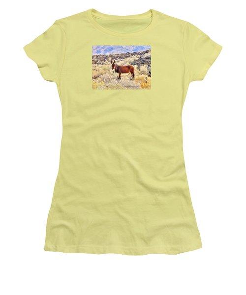 Whatcha Doing Women's T-Shirt (Junior Cut) by Marilyn Diaz